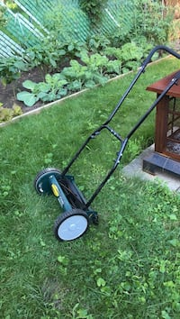 Black and green push reel mower Hamilton, L8M 1N4
