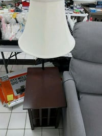 This is a set of two end tables with lamps Kitchener