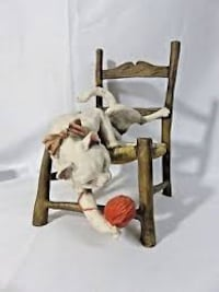 REDUCED**RARE Giuseppe Armani #166-C Cat on Chair with Yarn Ball FIGURINE*STILL AVAIL