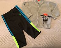 New Activewear Pants no Tags, and Warm Cardigan Excellent condition Size 18 months $5 for both Toronto, M9C 4W1