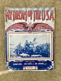 Antique 1908 sheet music booklet Oklahoma City, 73145