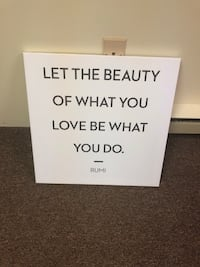 Canvas quote wall hanging  20x20