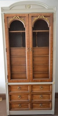 Tall French-Style Antique Cupboard W/Drawers And Cubbies. Las Vegas