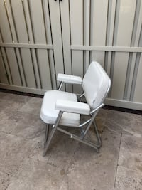 White leather padded boat chair West Palm Beach, 33418