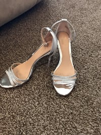 Silver wedge shoes Dormont, 15216