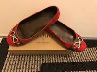 Red suede Cole Haan flat , size 6Wed & Thur can meet at St.George and Yonge  Markham