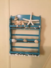 Beach bathroom shelf with shells Port Orange, 32127