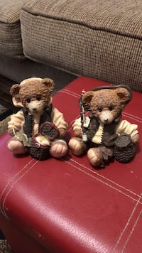 two brown bear with baskets figurine