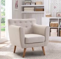 Tufted back fabric upholstered accent chair Manassas