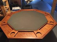 Poker / Card table w Chip set Acton