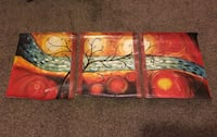 3 panel canvas painting  Hyde Park, 12601