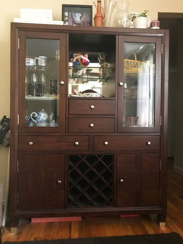 Outstanding Used China Closet From Raymour Flanigan For Sale In New Download Free Architecture Designs Intelgarnamadebymaigaardcom