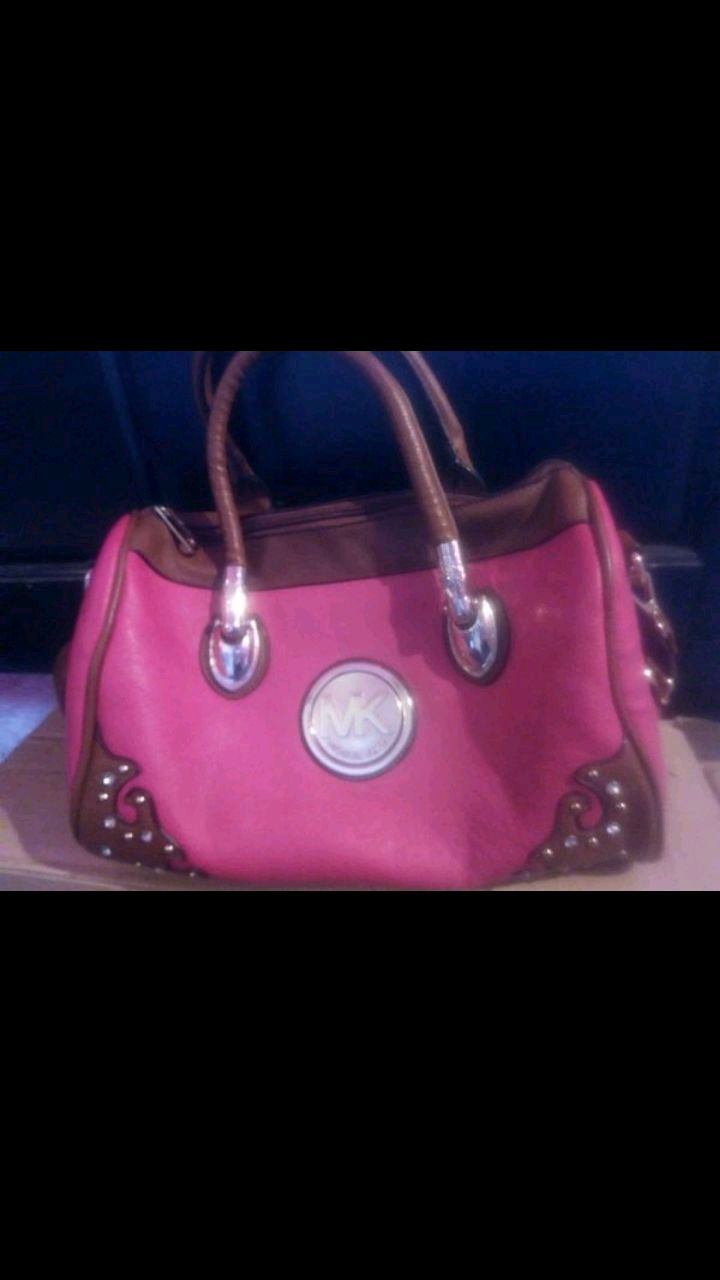 Photo Pink and Brown purse