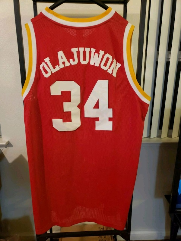 online store 8c77d 3e9f9 Men's Olajuwon #34 Houston Rockets Jersey 3XL