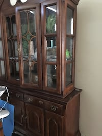 brown wooden china cabinet Houston, 77042