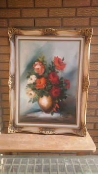 Oil on Canvas   Gesso  frame
