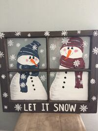 Snowmen hand painted on window. Ready to hang. Just in time for the holidays! Phenix City, 36867