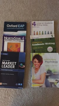 Five English learning books + understanding psychology Falls Church, 22302