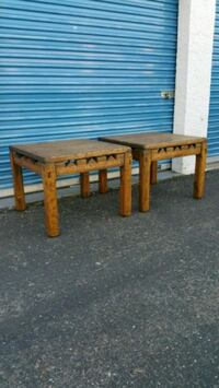 2  side tables. Solid wood and very well made.  Phoenix, 85027