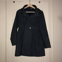 Blue double breasted H&M pea coat  Edmonton, T5J 1L1