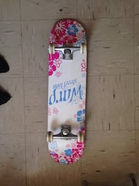Used white and pink floral Warp Street tools skateboard for sale in ... 6301d4365b2