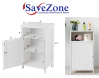 New- Bathroom Freestanding Adjustable Shelf Floor Storage Cabinet