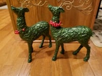 Reindeer Standing Holiday decorations (set of 2) Burtonsville