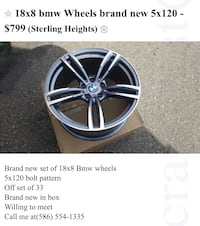 gray BMW 5-spoke vehicle wheel screenshot Sterling Heights, 48310