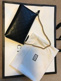 Quilted black Gucci leather sling bag Markham