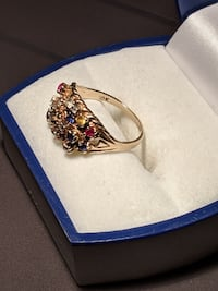Gold ring stones 10k 6-6.5 size L'Île-Perrot