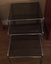 Glass tables value 150.00 for only 50.00