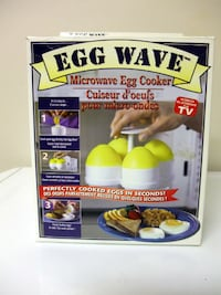 4 Egg Wave Microwave Egg Cookers as seen on TV Mississauga