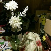 white and green artificial flowers Fresno, 93727