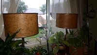 black tablet lamp with white lampshades Saint Catharines, L2R 6P9