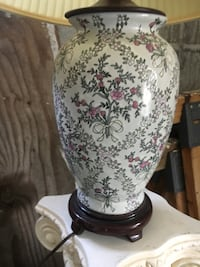 Two floral lamps - good condition