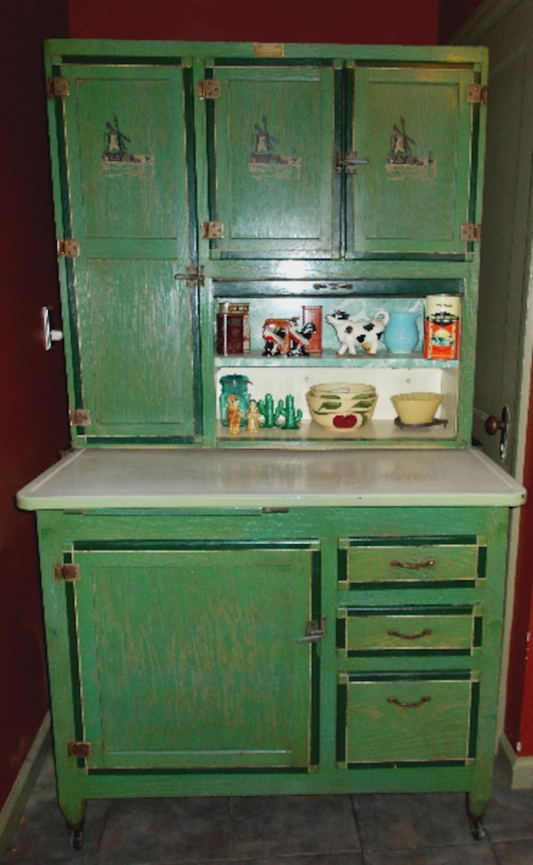 Used Antique Ariel Handy Helper Hoosier Cabinet For Sale