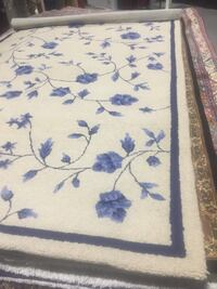 White, blue, and brown floral area rug Mishawaka, 46545