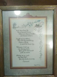 Lord prayer with brown frame Warren, 44483
