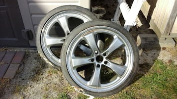 chrome 5 spoke car wheel