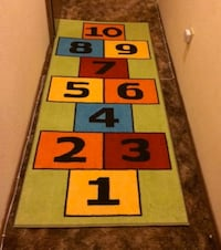 Kids rug hopscotch numbers educational bedroom decor Laurel