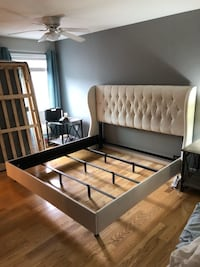 King sized tufted bed with mattress  Gaithersburg