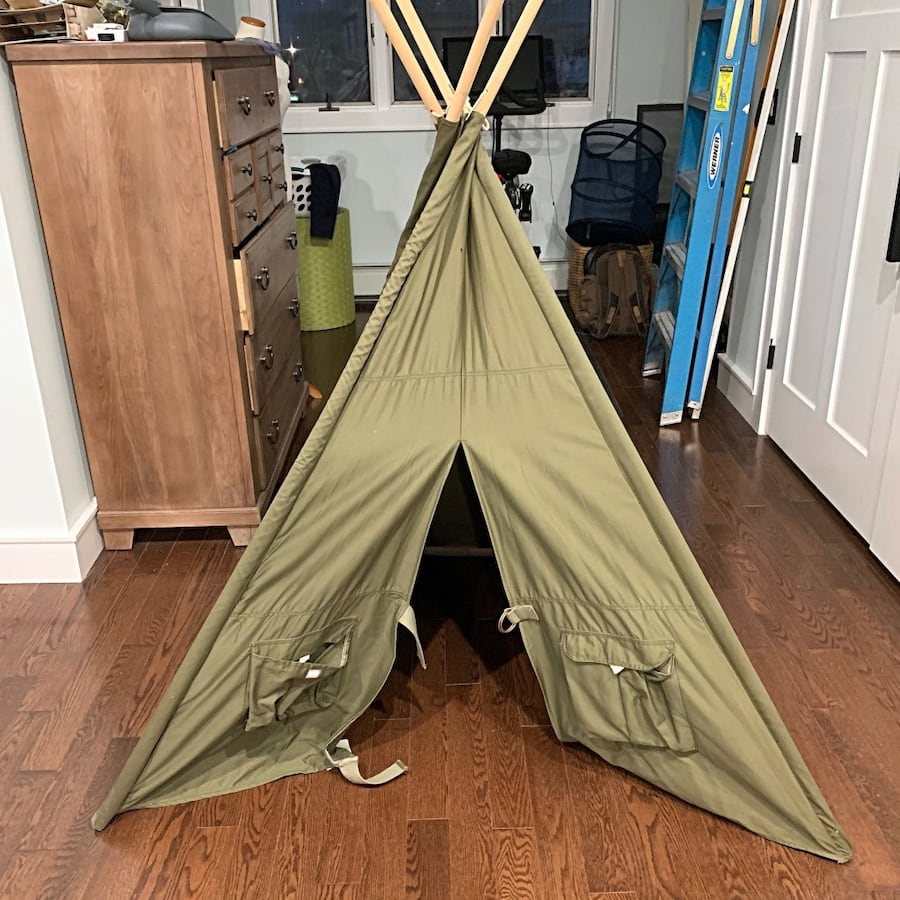 Land Of Nod Army Green Tee Tent