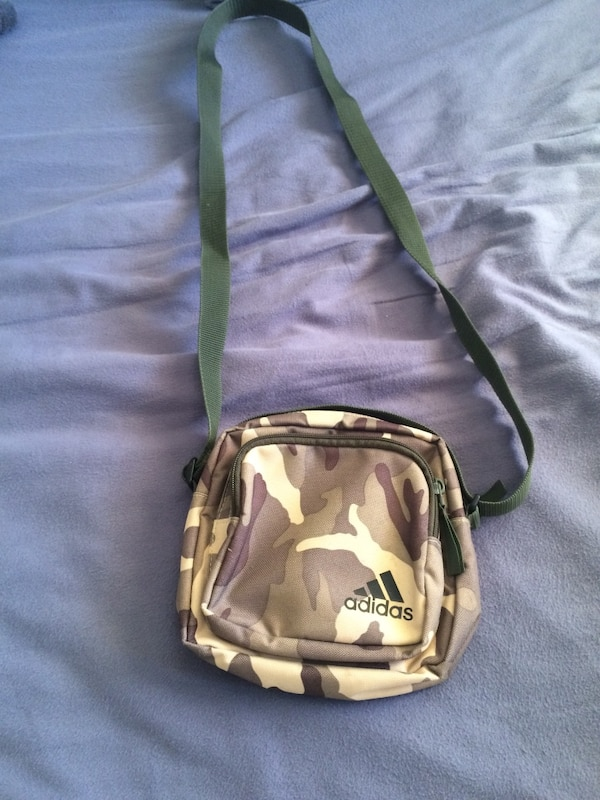 Used brown and white Adidas crossbody bag for sale in Calgary - letgo 22b8d48bd003f
