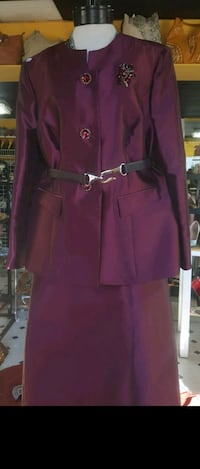 women's purple long-sleeved dress