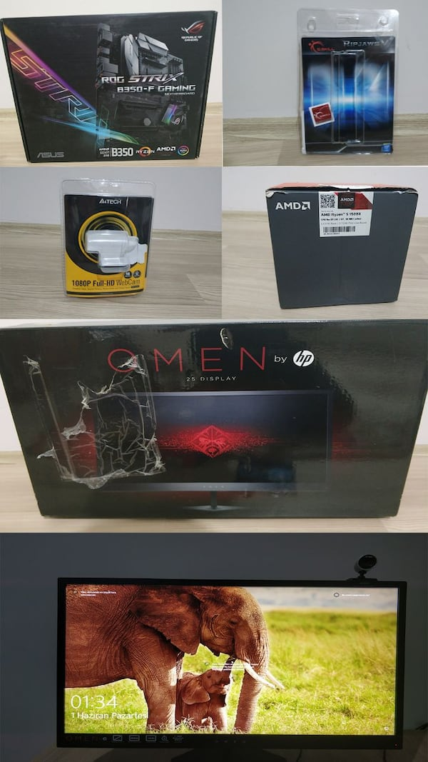 1070 GTX 16 GB RAM SSD 144HZ MONİTOR FULL SİSTEM 1