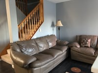 lather Couches sofá ,love seat and chair (Needed gone by Saturday) Surrey, V3R 0W8