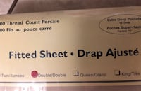 Double bed sheet with extra deep pockets, 200 thread count. Langley, V3A 2E8