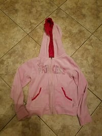 Girls pink princess jacket velour size 6x like new Toms River, 08753