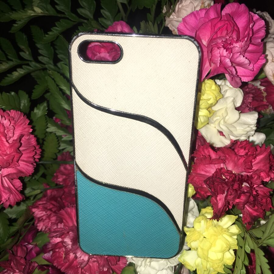 White and blue iPhone 5 case