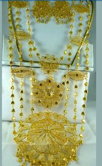 Indian Pakistani bridal rani haar necklace with ea. Laval, H7W 2Z9